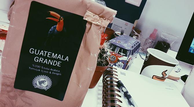 Foto: bikahvebikeyif- Ben tchibo'da Guatemala Grande kahve tercih ettim. Çektirirken 'French Press' için demenizde fayda var.