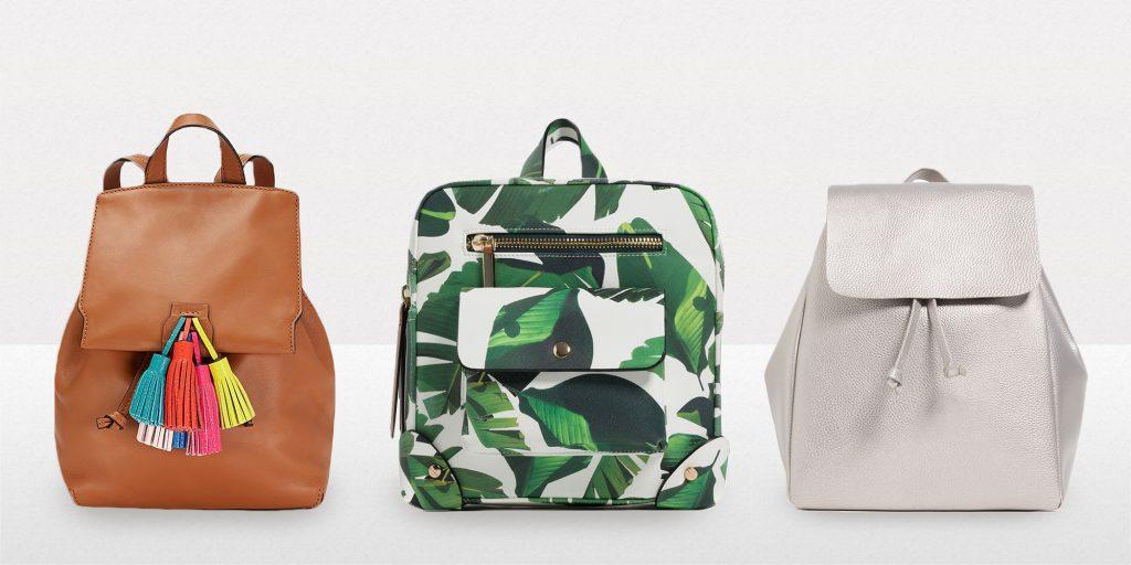 Rebecca Minkoff Sofia Backpack- Zara Printed Backpack ve Zara Backpack With Foldover Flap
