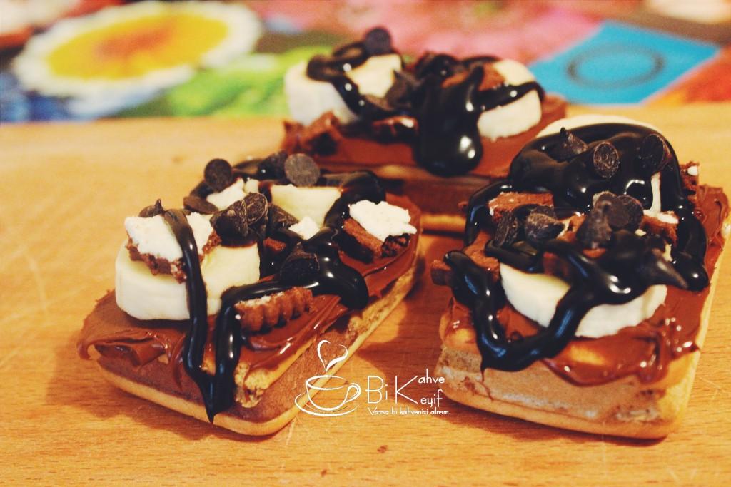 mini waffle tarifi